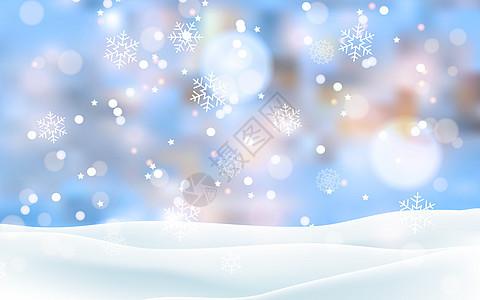 雪花唯美背景图片