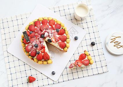 草莓生日蛋糕西点烘焙图片