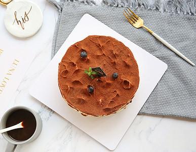 巧克力莫斯生日蛋糕图片