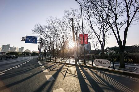 城市中的晨曦就是希望图片
