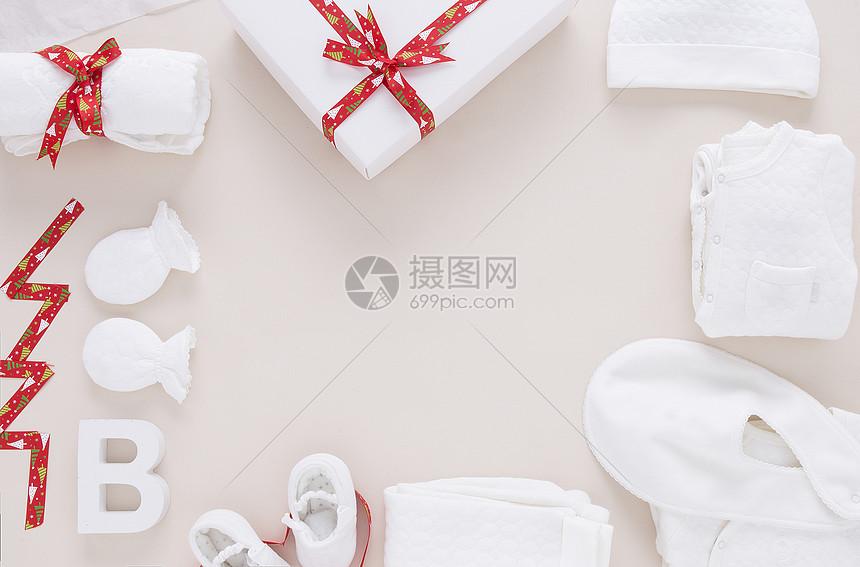 婴儿圣诞礼物图片