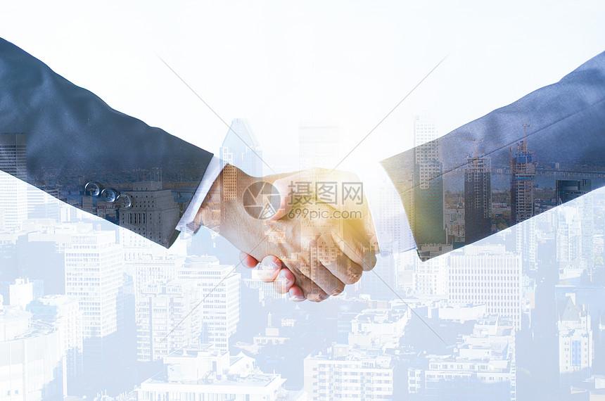 商务创意成功人士握手图片