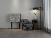 单椅落地灯组合家居效果图图片