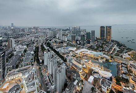 南山城区夜景图片