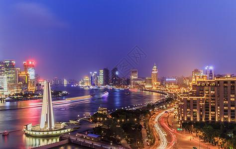 上海外滩美丽的夜景图片