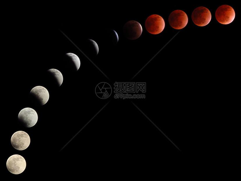 月全食图片
