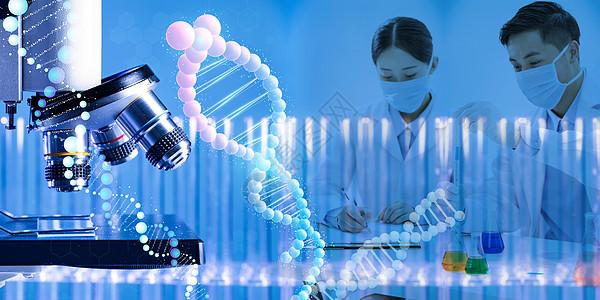 医疗基因科学实验图片