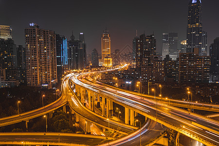 上海立交桥夜景图片