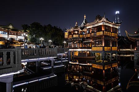 上海城隍庙旅游区夜景图片