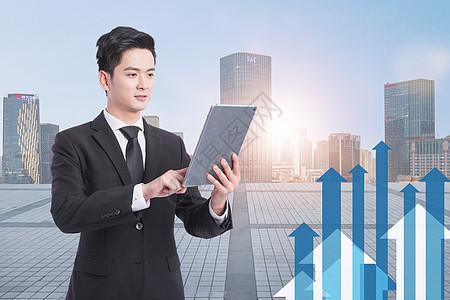 金融股票增长趋势图片