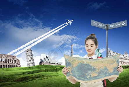 出国留学的大学生图片