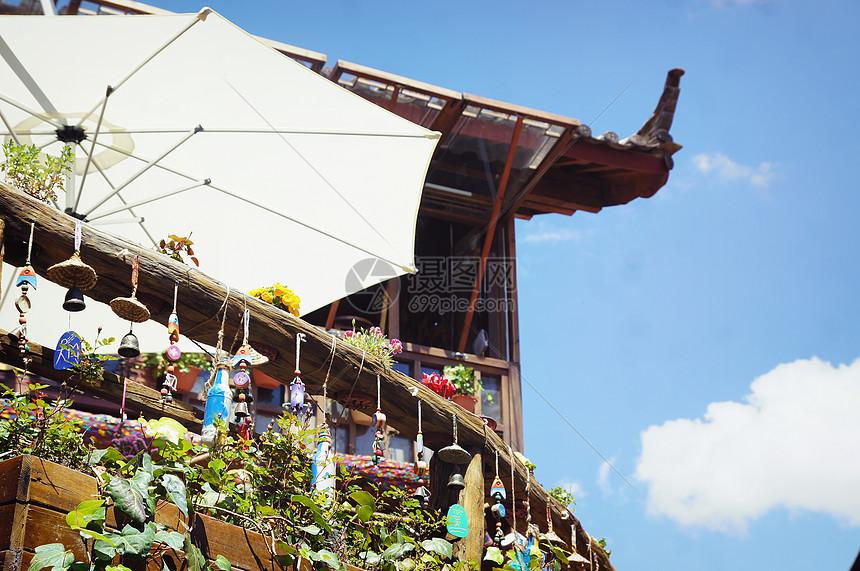 丽江古城建筑背景图片