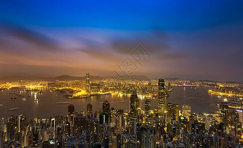 香港维多利亚港湾夜景图片