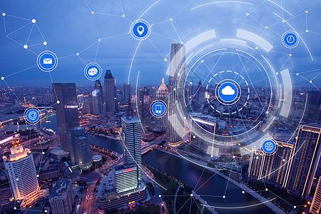 城市无线通信网络图片