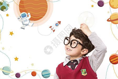 儿童宇航员梦想图片