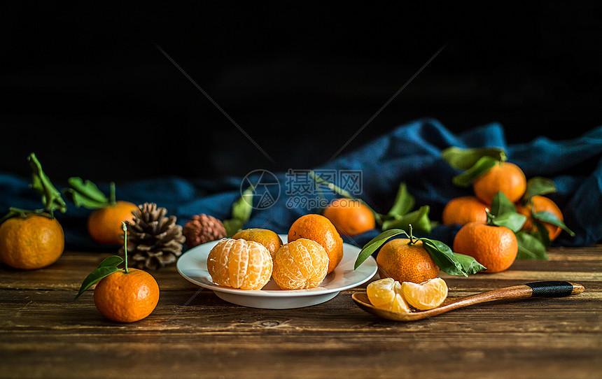 桔子摆拍图片