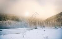 清晨充满中国风意境的美丽景色图片