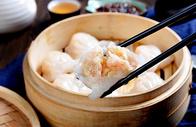 手工水晶虾饺美食图片