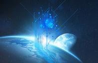 科技感地球背景图片
