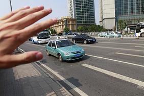 拦出租车图片