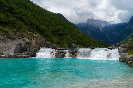 云南玉龙雪山蓝月谷风景图片