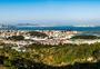 大坪山公园步道眺望岛内集美全景图片