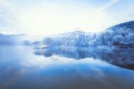 庐山如琴湖冰雪摄影图片图片