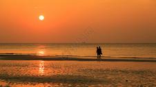 涠洲岛海滩夕阳图片