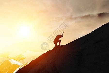 励志登山图片