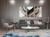 客厅沙发简约效果图图片