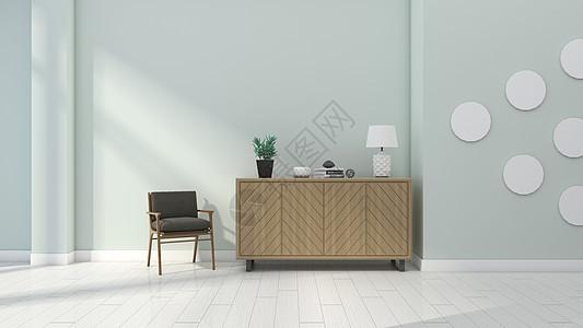 现代清新简约室内边柜装饰家居背景图片