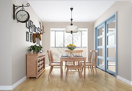 北欧室内餐桌家居图片