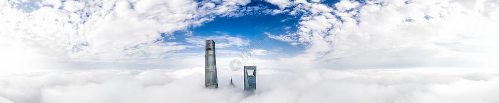 上海陆家嘴城市天际线全景图片