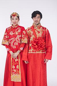 传统结婚的新郎新娘高清图片图片