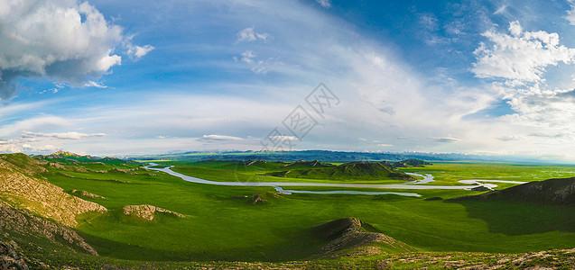 巴音布鲁克草原全景长图视觉中国图库图片