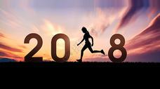 2018夕阳下的健身剪影图片