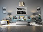 家居客厅沙发效果图图片