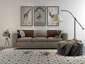 创意沙发落地灯组合图片