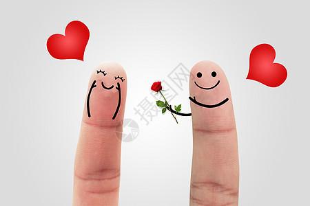 创意情人节手指图片