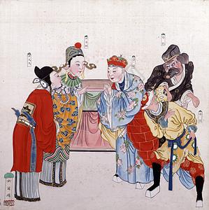 《女儿国》宫廷戏剧画图片