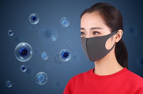 流感病毒侵袭图片