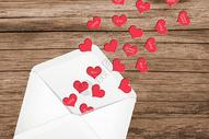 情人节爱心信封图片