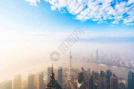 上海的平流雾图片
