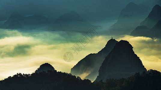 风云山峦图片