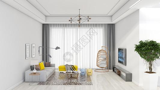简约清新客厅室内家居背景图片