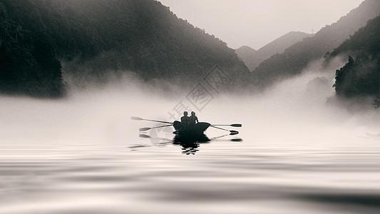 水墨韵味的山水风景图片