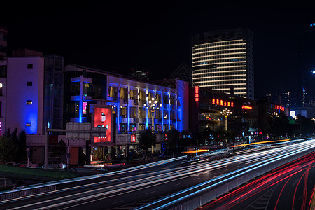 城市流光图片