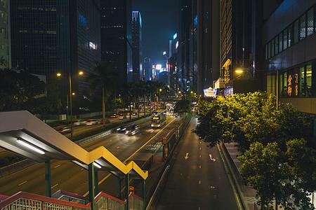 香港夜景道路图片