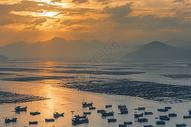 夕阳下的大海风光图片