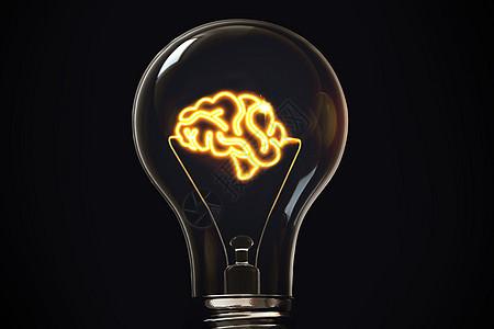 灯泡里的想法图片